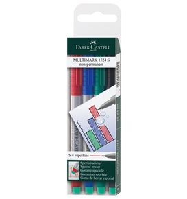 Faber-Castell - Rotulador Multimark soluble S estuche x4