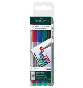 Faber-Castell - Rotulador Multimark soluble M estuche x4